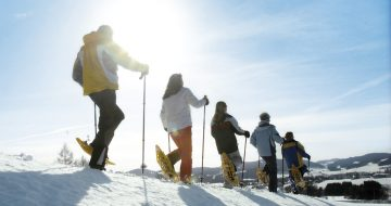 Meditieren Schneeschuhwandern