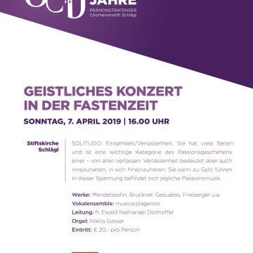 2019 01 PosterA3 Geistliches Konzert In Der Fastenzeit